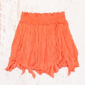 Pre- Free People Uneven Hem Mini Skirt